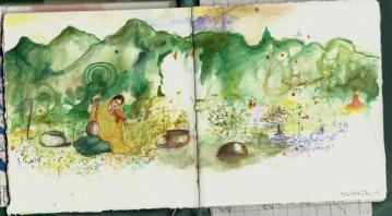 ganga art sketch book 1l